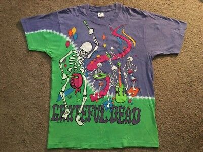 Grateful Dead Vintage 1992 GDM Tour T-Shirt Oakland New Year's Eve 91-92 XL NOS
