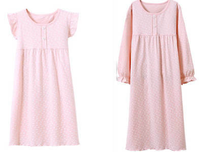 Girls Kids Pyjamas Nightwear Cotton Night Dress Nightgown Sleepwear PJ 2-12y