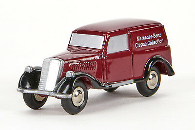 LNB 0010 Schuco piccolo MB170 V Classic Collection, Druckguss, weinrot, 1:90,OVP