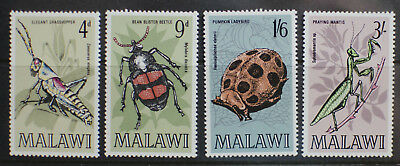 Malawi 1970 Insects of Malawi Set of 4 Stamps SG345-348 MNH