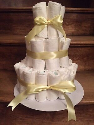 3 Tier Nappy Cake🌟 Maternity Leave🌟 New Born Baby Shower Gift🎁