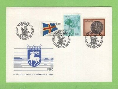 Aland 1984 three definitives on First Day Cover