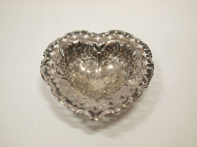 Silberschale, Herzform, mit Punze - Silver bowl, heart shape, with hallmark