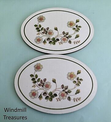 Pair Marks & Spencer Autumn Leaves Casserole Stand Trivets - Good Condition