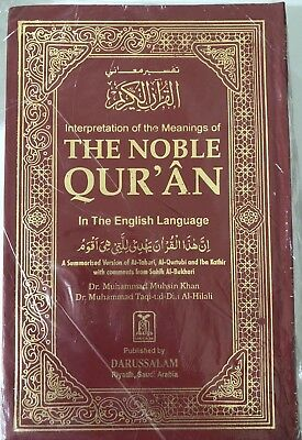 Noble Quran English and Arabic (Standard size)Quran Translation In English