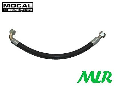 Mocal An -8 Jic Swaged Rubber Oil Cooler Hose Choice Of Straight 45 90 Fittings
