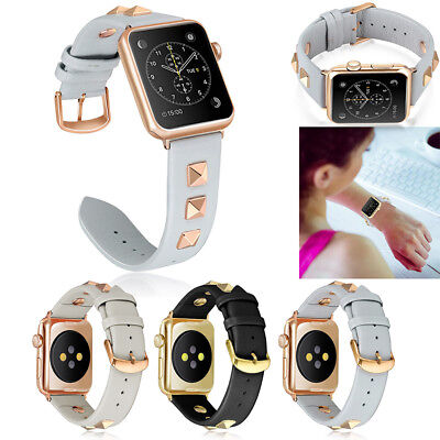 Genuine Leather iWatch Strap Wrist Band For Apple Watch 1/2/3/4 38/40/42/44mm