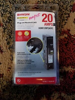 Square D Homeline 20 Amp Single-Pole Plug-On Neaural CAFI - (Model HOM120PCAFIC)