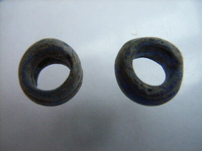2 Ancient Celtic Glass Beads Celts VERY RARE!  TOP !!