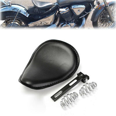 75FF Leather Leather Seat Harley Black Solo-Bracket-Seat Spring Brackets