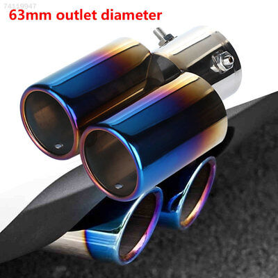 1CD3 Chrome Silencers Auto Replacement Tail Muffler Durable Colorful 1PC