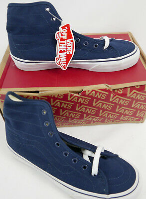 9525b8d73841b1 VANS SK8-HI Decon Canvas Dress Blues Skate Shoes Mens 5.0 Women s Size 6.5
