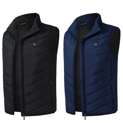 USB Electric Heated Warmer Vest Winter Rechargeable Heating Jacket For Mens US