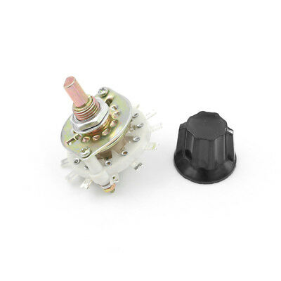 1Pcs Plastic Knob 2P5T 2 Poles 5 Position Band Channel Rotary Switch OQHN