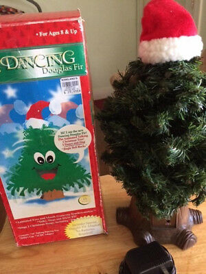 Dancing Douglas Fir Animated Singing Christmas Tree Motion Gemmy 18""