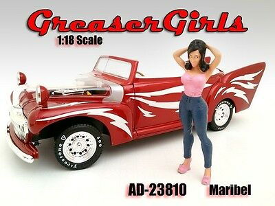 1/18 FIGURINE/Figure-Maribel-Greezerz Girl- 4 your shop/garage-AMERICAN DIORAMA