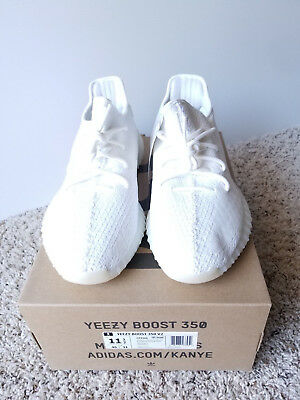 32c87462a adidas Yeezy Boost 350 V2 Triple White Size 11.5 CP9366 NIB FAST SHIPPING!