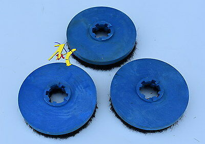 "Genuine 6"" Dixon Floor Polisher / Scrubber Polishing Gumati  Brushes (Set Of 3)"