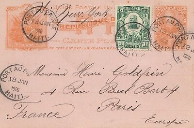Haiti: 1906: post card Port au Prince to Paris
