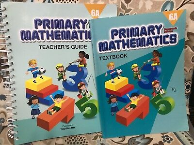 Singapore Math Primary Mathematics 6A Standards Edition Textbook, Teachers Guide
