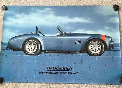 Bf Goodrich Sign Of A  Blue Ford Shelby Cobra 427 Poster