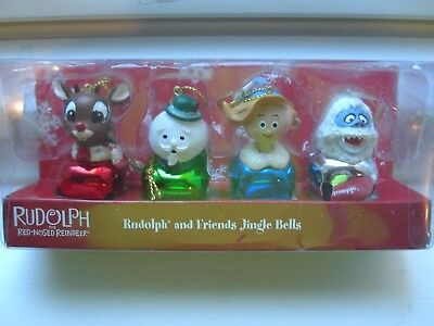 Rudolph Red Nosed Reindeer Jingle Buddies Set of 4 Ornaments New in Box