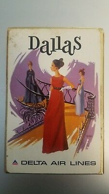 Vintage Delta Air Lines Dallas Playing Cards - Rare Collectible