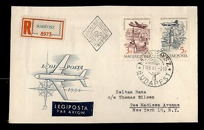 Dr Who 1958 Hungary Flight Fdc Air Mail C61708