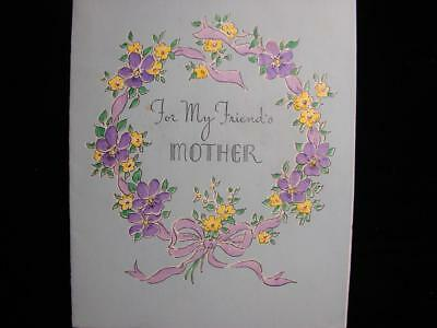 "Vintage ""to My Friend's Mother - Norcross!!"" Birthday Greeting Card"