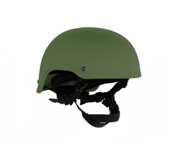 High Cut  Helmet Green with Dial Retention- Green Large-
