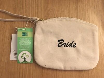 Personalised make up bag, wristlet hen party gift mothers day, embroidered