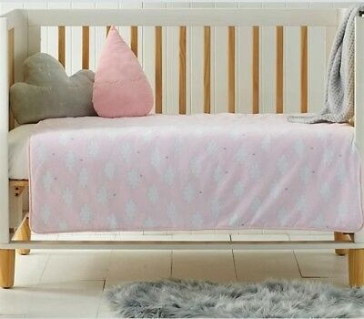 Pink Clouds Cot Comforter / Quilt Baby Girls Nursery