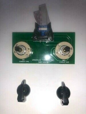 CONDUIT & SIZE SELECTOR SWITCH CIRCUIT BOARD GREENLEE 855 Connector Wire & Knobs