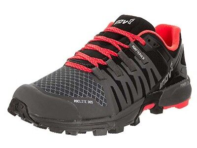 Inov-8 Roclite 305 Grey/Black/Coral Men's Size 6 Women's Size 7.5 Running Shoes