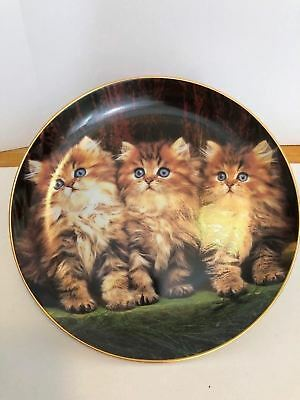 Danbury Mint Puurfect Portraits Three Little Kittens Plate Artist Guy Withers