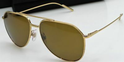 Dolce   Gabbana DG2166 02 83 Ladies Gold Frame Polarized Designer Sunglasses  NEW f208907a78ab