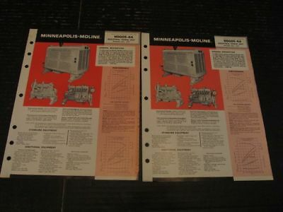 Minneapolis Moline Industrial Power Unit HD605-6A Sales Specification Bulletins