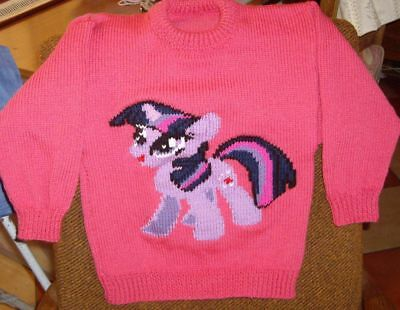Twighlight My Little Pony   ..New Size 6-7  Hand Knitted