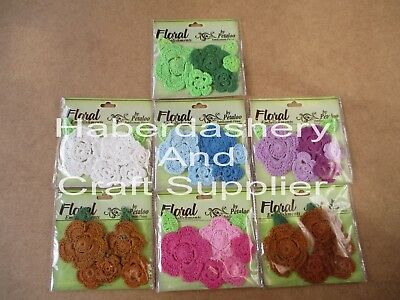 Petaloo Crochet Flower X 5 Assorted Pcs Choose 1 Color