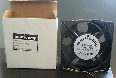 Multicomp Axial Fan MC1123HSL 115 VAC 0.21A 120mm Impedance Protected