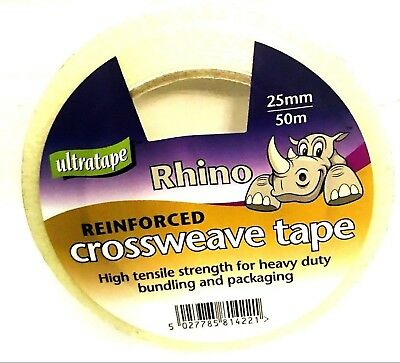 1 X Roll Of STRONG CROSSWEAVE REINFORCED TAPE 25mm x 50M
