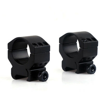 1 Pair Tactical 30mm Low Profile 6 Bolt Scope Mount Ring Fits 20mm Weaver Rail