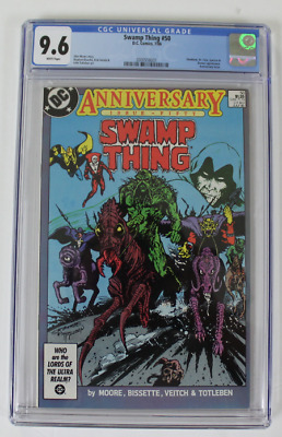 CGC Graded 9.6 NM+, DC Swamp Thing #50 (1986)  Alan Moore Story