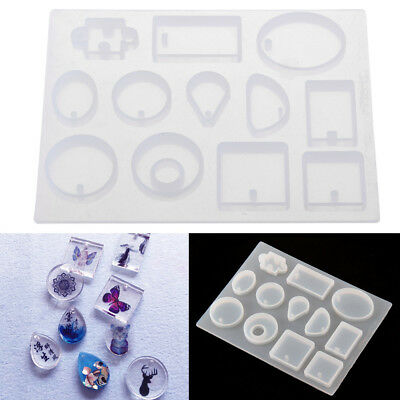 12* Silicone  Resin Necklace Mould Craft DIY Tool Pendant Mold Making Jewelry