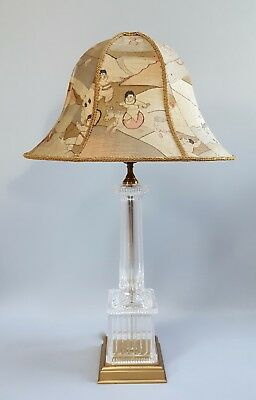 Kesi Kossu Chinese Silk Gold Embroidery Panel Lamp Shade 19th Century Antique