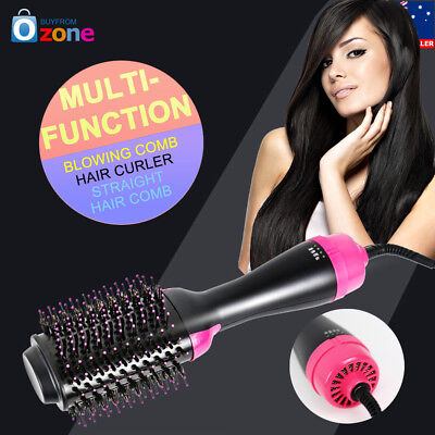 1000W Collection Salon One-Step Hair Comb Brush Dryer and Volumizer Curler AU