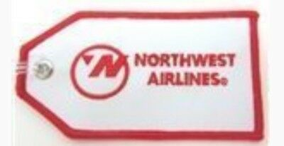 Northwest Delta NW Airlines cloth embroidered Luggage ID tag logo bowling ball