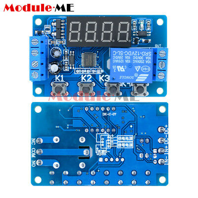 DC 12V 4 Button Red LED Display Delay Relay 4 Digit Digital Tube Timer Switch