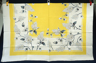 Japanese Lilac Tree Tablecloth Grey Yellow 67x52