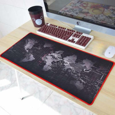 World Map Gaming Mouse Pad Portable Large Desk Table Pad Non-slip Rubber Pad